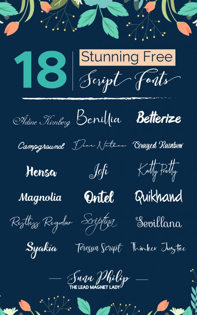 18 Stunning Free Script Fonts